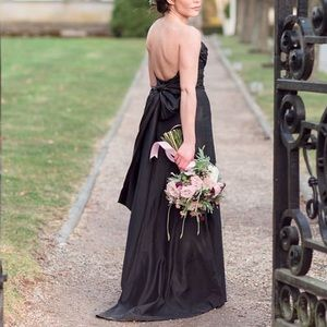 Jim Hjelm Bridesmaid formal black bow dress 2